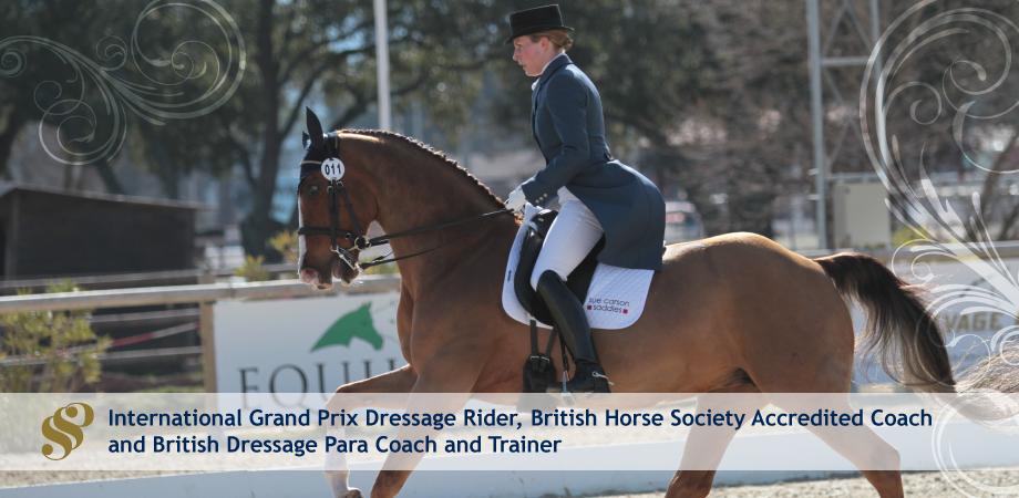Sjoholm-Patience International Grand Prix Dressage Rider, British Horse Society Accredited Coach and British Dressage Para Coach and Trainer